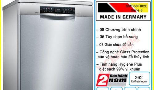 Đánh giá máy rửa bát Bosch SMS68TI02E – Máy rửa bát độc lập