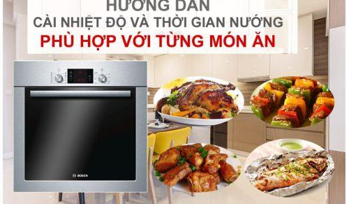 Điều chỉnh nhiệt độ nướng một số loại thực phẩm bằng lò nướng