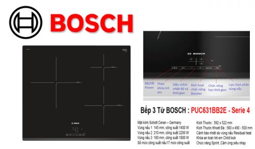 Đánh giá bếp từ Bosch PUJ631BB2E ưu và nhược điểm