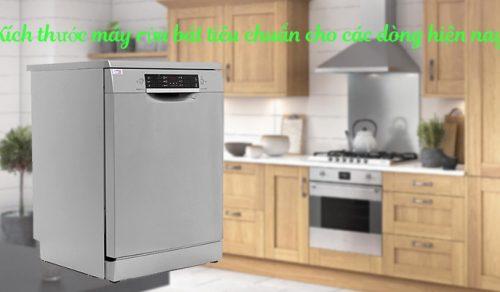 Kích thước máy rửa bát tiêu chuẩn cho các dòng hiện nay