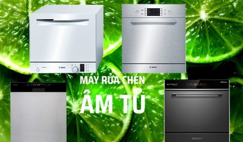 Máy rửa bát âm tủ xu hướng lựa chọn tốt nhất hiện nay