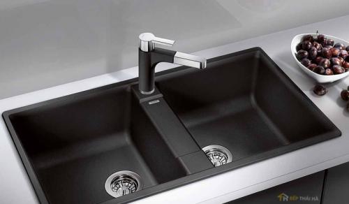 Chậu rửa bát đá phụ kiện tăng vẻ đẹp cho không gian bếp