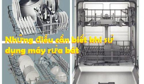 Những điều cần biết khi sử dụng máy rửa bát